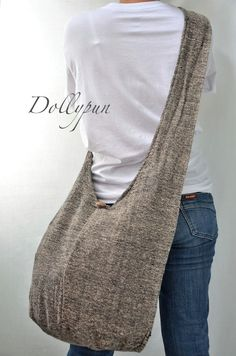 SANDSTONE  Hand Woven Hippie Cotton Hobo Bag Sling by Dollypun, $9.98