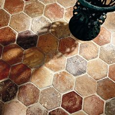 Antique Terra Cotta Hexagon
