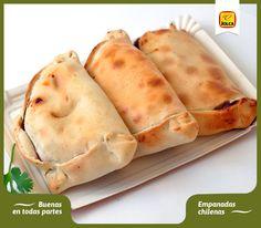 Aprende a preparar unas deliciosas empanadas chilenas con aceitunas y pasas: http://aceitunasjolca.tumblr.com/ #Jolca #RecetasDelMundo #Aceitunas #Comidachilena #Chile