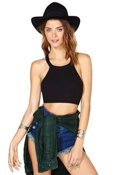 Up All Night Crop Top