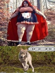 An image tagged red riding hood,scary,memes Really Funny Memes, Stupid Funny Memes, Funny Laugh, Wtf Funny, Funny Relatable Memes, Hilarious, Funny Short Videos, Funny Animal Videos, Funny Animal Pictures