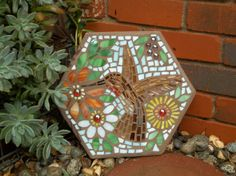 Hummingbird stepping stone.   Gift for a friend. Made by Pete