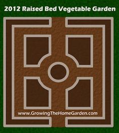 raised bed garden designs and layouts - many examples