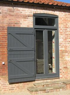 Barn Conversion Doors working progress bespoke shutters and double french doors at barn