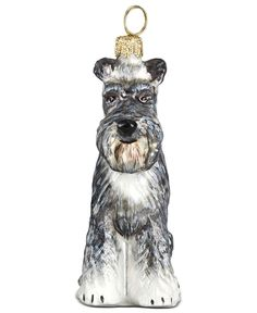 Joy to the World Schnauzer Pet Charity Ornament