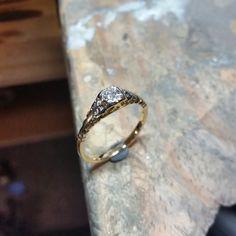 Behind the scenes look at the #jeweller's bench - Antique #ring rebuild.. --- #sydney #jewellers #designer #masterjeweller #castletowers #jewellerydesigner #jewellerydesign #design #igersaustralia #igerssydney #KingsOfBling #sydney #australia #diamonds #diamondlife #bling #engagement #ring #rings #diamondring #behindthescene #bts #jewellery #jewelry #bling #blingbling