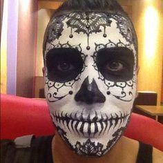 sugar skull makeup tutorial guy - Google Search