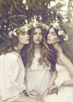 beauties in flower crowns