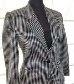 Vintage Windsmoor Dogtooth skirt suit size 8 x2 by TheBonjEmporium