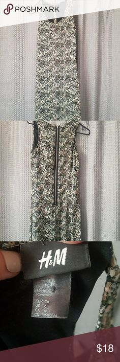 H&M maxi floral dress sz 6 chiffon like material Super cute soft fully lined dress. Perfect for spring and  summer Dresses Maxi