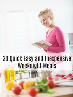 Take the work out of meal planning with these 30 Quick Easy and Inexpensive Weeknight Meals. A month's worth of ideas to get you started! Easy Dinner Recipes, Easy Meals, Recipe Sites, Cooking Together, Frugal Living Tips, School Holidays, Menu Planning, Weeknight Meals, Family Meals