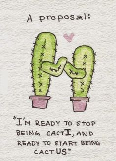 Ironically Cacti is plural and cactus is singular. But yet it has great meaning #relationship