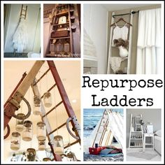 1000 images about recycled ladders on pinterest old for Old wooden ladder projects
