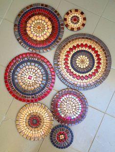 Mosaics for Wall Decoration Mosaic Garden Art, Mosaic Tile Art, Mosaic Pots, Mosaic Diy, Mosaic Crafts, Mosaic Projects, Mosaic Glass, Cute Wall Decor, Unique Wall Decor