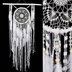 White Dreamcatcher Boho Dream Catcher Large white crochet dreamcatcher gift wedding ceremony photo backdrop Dreamcatcher Bohemian handmade        This amulet like Dreamcatcher - is not just a decoration of the interior. It is a powerful amulet, which is endowed with many properties:    - Dreamcatcher protects and ensures a healthy sleep to the owner;    Dreamcatcher  helps in practice lucid dreaming. It helps to recognize  himself in a dream, as well as protects from negative influences…