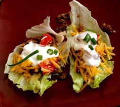 SCD Iceberg Lettuce Tacos (*Use SCD legal toppings & seasonings...)