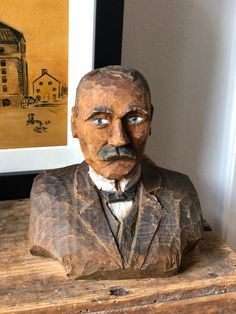 Excited to share this item from my #etsy shop: Swedish hand carved wooden bust figurine signed hand painted original Swedish folk art handicraft Hand Carved, Hand Painted, Handicraft, Folk Art, Original Paintings, Carving, Etsy Shop, Statue, Traditional
