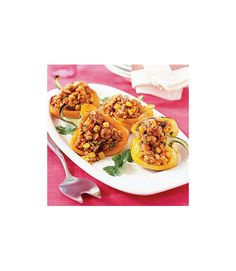Tex-Mex Chicken and Barley- Stuffed Peppers