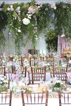 Floral on Floral at Royal Freshwater Bay. Image and Florals by Zinnia Floral Designs