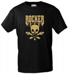 COOLES ROCKER/SKULL T-SHIRT, FÜR ROCK'N ROLLER, LOWRIDER, REBELLEN, EXPERTEN! | eBay