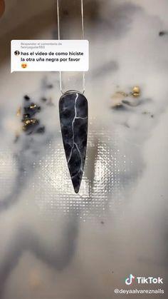 Diy Acrylic Nails, Almond Acrylic Nails, Acrylic Nail Designs, Nail Art Designs Videos, Nail Art Videos, Nail Art Hacks, Nail Art Diy, Marble Nails Tutorial, Nagellack Design