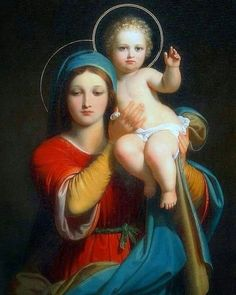 Madonna and child Divine Mother, Blessed Mother Mary, Blessed Virgin Mary, Catholic Art, Religious Art, Hail Holy Queen, Jesus E Maria, Images Of Mary, Mama Mary