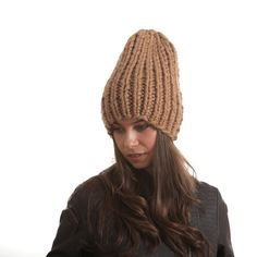 Two styles bulky beanie. This is the whimsey anime heroine. Open to view the second. #knit #knitting #pixie #ski #wool #winter #hat #street #style
