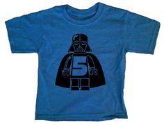 Birthday Number Darth Vader Star Wars Royal Blue Toddler Tshirt 4T 5T Youth Small