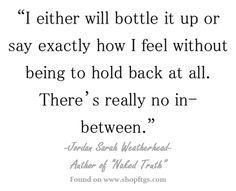 One or the other... - Jordan Sarah Weatherhead
