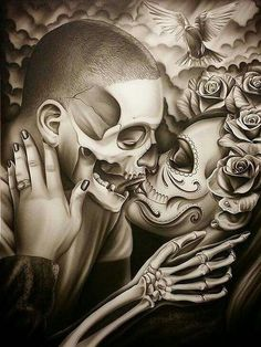 Discover recipes, home ideas, style inspiration and other ideas to try. Chicano Art Tattoos, Skull Tattoos, Body Art Tattoos, La Muerte Tattoo, Catrina Tattoo, Arte Cholo, Cholo Art, Fröhliches Halloween, Totenkopf Tattoos