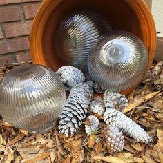 outdoor christmas balls, christmas decorations, outdoor living, seasonal holiday decor