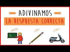 Adivinanzas para niños - Juego de estimulación lingüística - YouTube Elementary Spanish, Elementary Schools, Spanish Immersion, Language Acquisition, Spanish Language, Education, Videos, Youtube, Blog
