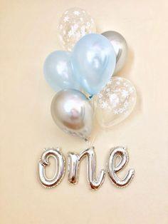 One Script Balloon~One Balloon~Blue First Birthday Balloon~Winter Onederland Party~Onederland Party Balloon~Snowflake Balloon~One Script – 2019 - Birthday ideas First Birthday Winter, Boys First Birthday Party Ideas, Baby Boy Birthday, Boy Birthday Parties, Leo Birthday, Birthday Month, Birthday Celebrations, Its A Boy Balloons, One Balloon