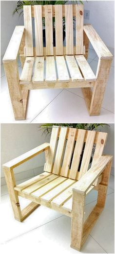 Beautifully implicated out with the simplicity and elegance, this wood pallet chair design will make you feel so awesome. Clean sleek simple designing of the chair through the wood pallet crafting has Wood Pallet Crafts, Diy Pallet Projects, Wooden Pallets, Home Projects, Woodworking Projects, Diy Wood, Pallet Wood, Wooden Pallet Ideas, Youtube Woodworking