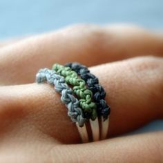 A gorgeous macramé ring from Lunatic Art