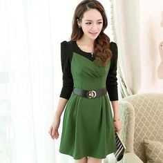 Buy 'Mooiee – Mock Two-Piece Color-Block Dress' with Free International Shipping at YesStyle.com. Browse and shop for thousands of Asian fashion items from China and more!