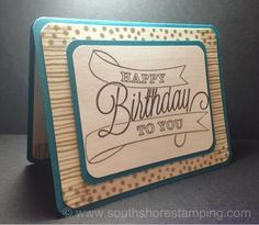 Birthday card using Another Great Year from the Stampin' Up! 2014 spring Occasions catalog by Emily Mark SU demo Montreal.
