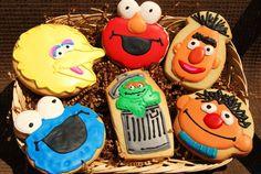 Sesame Street Gang Decorated Sugar Cookies
