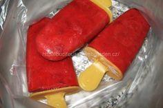 Domácí jahodové nanuky   recept na domácí zmrzlinu se smetanou
