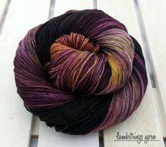 Tralala Sock 4 ply, Hand dyed yarn, SW merino wool, Nylon, 75/25,  463 yds, 100g:  Red Maple.