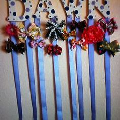 Bow hanger Baby Girl Hair Clips, Bow Hanger, Girl Hairstyles, Hair Bows, Hair Beauty, Craft Ideas, Kid, My Love, Room