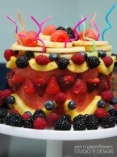 A Fruit Cake. Buckwheat Cake, Cookie Cake Pie, Edible Arrangements, Healthy Cake, Savoury Cake, Us Foods, Clean Eating Snacks, How To Make Cake, Cupcake Cakes