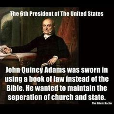 """The Constitution does not require that the president take the oath of office by swearing on a Bible. To the contrary, the Founders wanted to ensure that Americans of any faith -- or no faith -- could hold federal office.  They set it forth plainly in Article VI: """"... No religious test shall ever be required as a qualification to any office or public trust under the United States."""" Indeed, two presidents, Teddy Roosevelt and John Quincy Adams, did not use a Bible at their swearing-in…"""