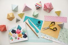 How to Make Paper Gems with the #TriangleScoreGuide from @wermemorykeepers with tutorial from @amytangerine