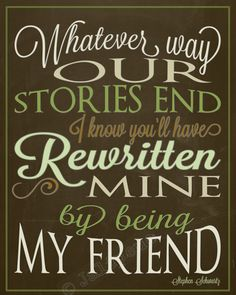 "Wicked Quote Brown Green Wall Art Home Decor from the song ""For Good"" - ""Whatever way our stories end, I know you'll have rewritten mine by being my friend"" - INSTANT DOWNLOAD Printable - perfect gift for Going Away, Farewell, Moving, Graduation, or Friendship! Fantastic last minute gift, just print & gift! Other colors & sizes in my shop, check it out!"