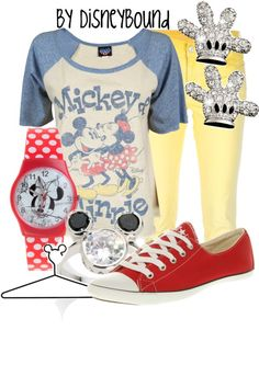 """""""Mickey & Minnie Tee"""" by lalakay ❤ liked on Polyvore"""