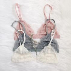 Easily our most popular Bralette ✨ Zara in all her glory - Baby Pink, Sage, Ivory Frankie-Phoenix.com #frankiephoenix #bralettes #lace #floral #casual #langerie #delicates #outfit