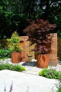 Indoor Outdoor, Gras, Decoration, Planters, Cottage, Garden, Design Ideas, Patio, Corten Steel