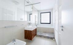 Bathroom_ porcelanosa tiles_walnut veneer_slovakia Porcelanosa Tiles, Walnut Veneer, Alcove, Sweet Home, Bathtub, Interior Design, Architekti, Kitchen, Bathrooms