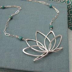 milagros+pendant   Utpala, Blue Lotus Necklace by Batya